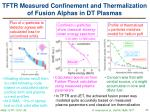 tftr measured confinement and thermalization of fusion alphas in dt plasmas