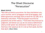 the olivet discourse persecution
