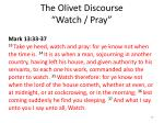 the olivet discourse watch pray