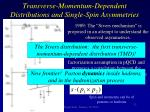 transverse momentum dependent distributions and single spin asymmetries