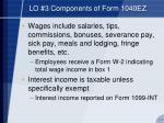 lo 3 components of form 1040ez2