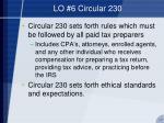 lo 6 circular 230