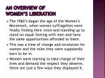 an overview of women s liberation