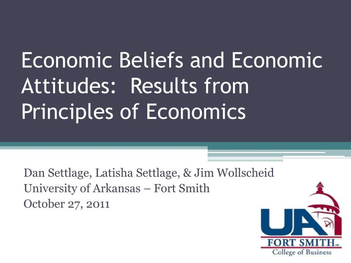 economic beliefs and economic attitudes results from principles of economics n.