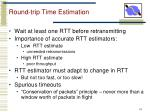 round trip time estimation