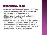 brainstorm plan