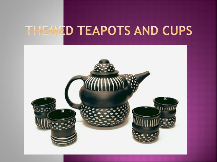 themed teapots and cups n.