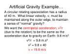 artificial gravity example