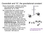 cavendish and g the gravitational constant