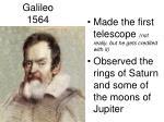 galileo 1564