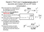 kepler s third law in fundamental units of seconds and meters it s a lot more complicated