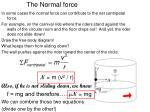 the normal force