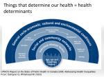 things that determine our health health determinants