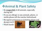 animal plant safety