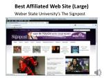 best affiliated web site large