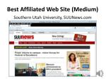 best affiliated web site medium