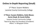 online in depth reporting small