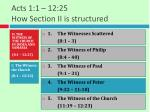 acts 1 1 12 25 how section ii is structured