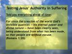 testing jesus authority in suffering102