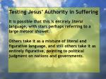 testing jesus authority in suffering106