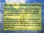 testing jesus authority in suffering109