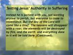 testing jesus authority in suffering117