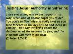 testing jesus authority in suffering118