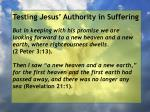 testing jesus authority in suffering123
