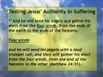 testing jesus authority in suffering125