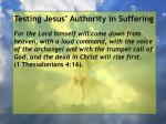 testing jesus authority in suffering126