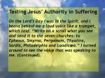 testing jesus authority in suffering127