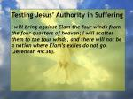 testing jesus authority in suffering129