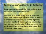 testing jesus authority in suffering136