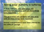 testing jesus authority in suffering141
