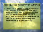 testing jesus authority in suffering143