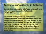 testing jesus authority in suffering146