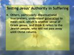 testing jesus authority in suffering151