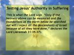 testing jesus authority in suffering158
