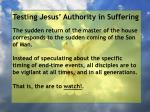 testing jesus authority in suffering168