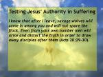 testing jesus authority in suffering26