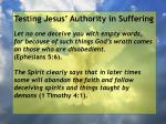 testing jesus authority in suffering28