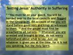 testing jesus authority in suffering37