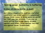 testing jesus authority in suffering39