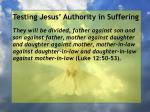 testing jesus authority in suffering40