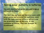 testing jesus authority in suffering49