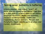 testing jesus authority in suffering53