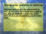testing jesus authority in suffering55