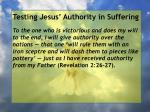 testing jesus authority in suffering63