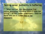 testing jesus authority in suffering67