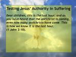 testing jesus authority in suffering72